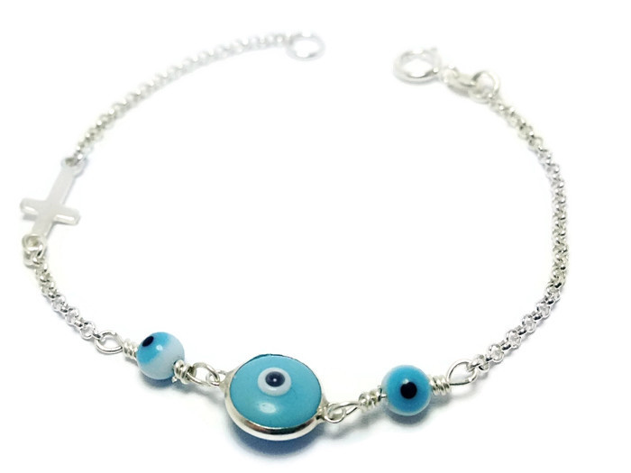 Beautiful Tiny Baby Evil Eye Bracelet