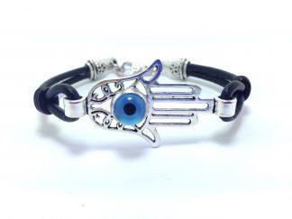 Hamsa hand evil eye bracelet
