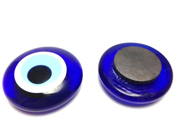 glass evil eye fridge magnet