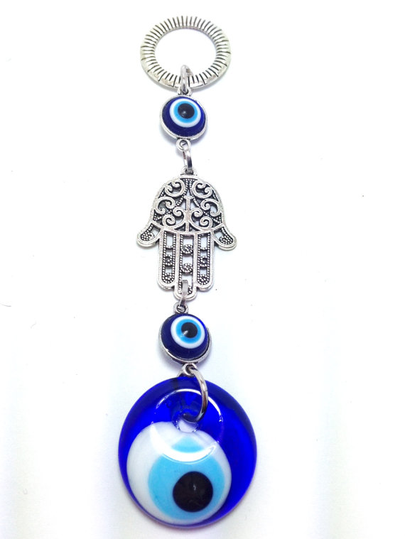 wall decoration evil eye and hamsa hand