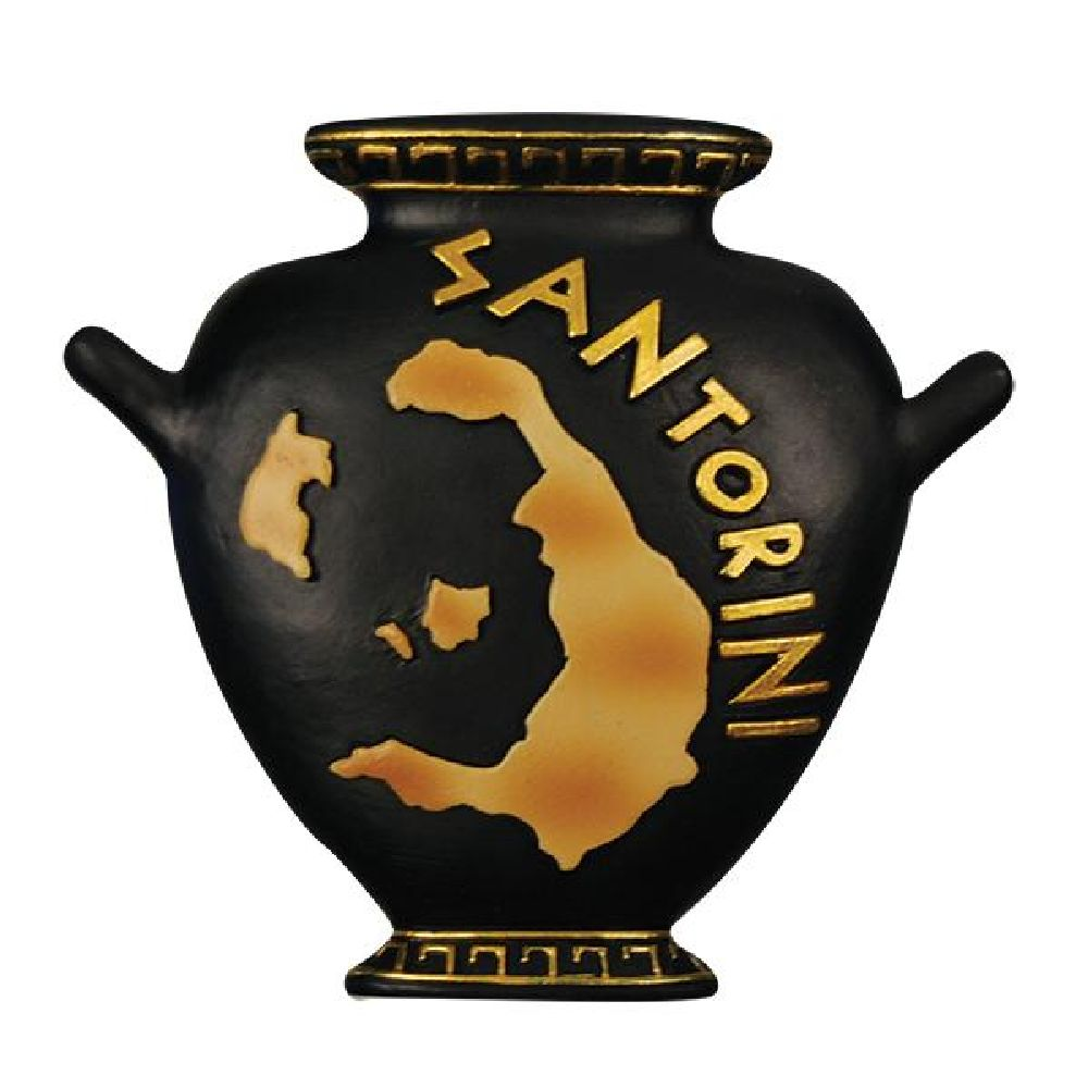 Greek fridge magnet amphora Santorini