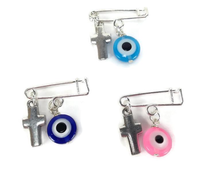Evil eye safety pins