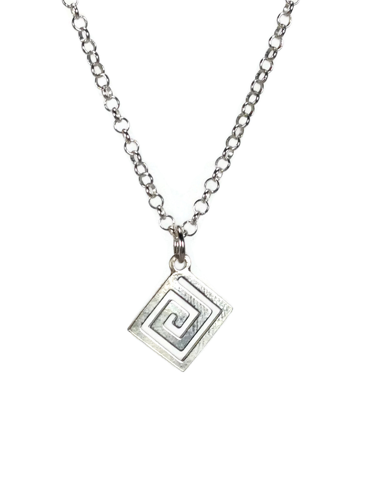 Greek key necklace in 925 sterling silver – Greek jewelry – – SBOeyes