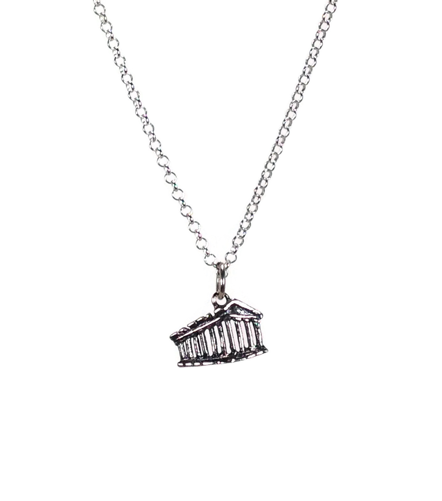 Parthenon pendant necklace in sterling silver