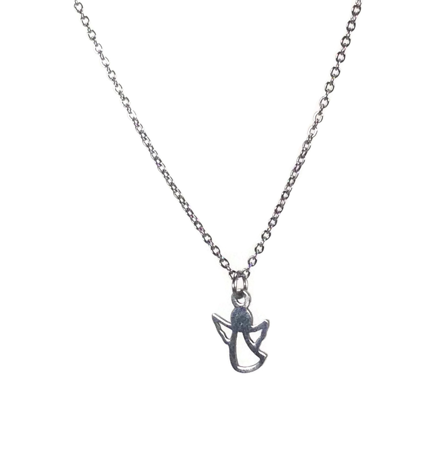 angel necklace in stainless steel