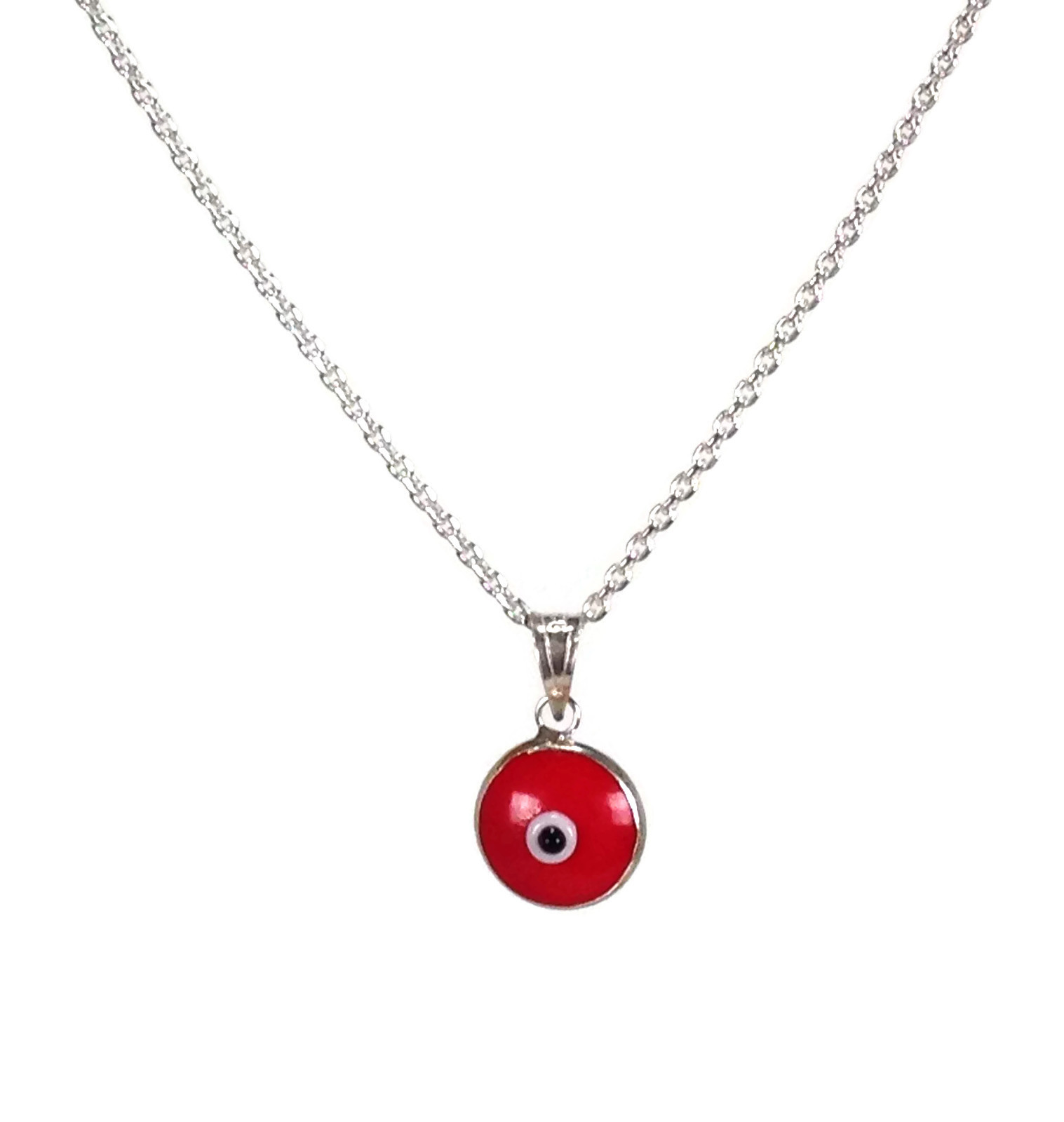 red evil eye pendant necklace