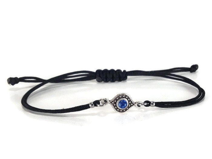 Evil eye bracelet with light blue evil eye charm – Greek jewelry ... d20959b42
