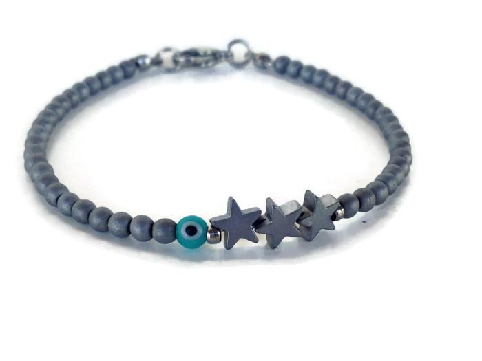 Star evil eye bracelet