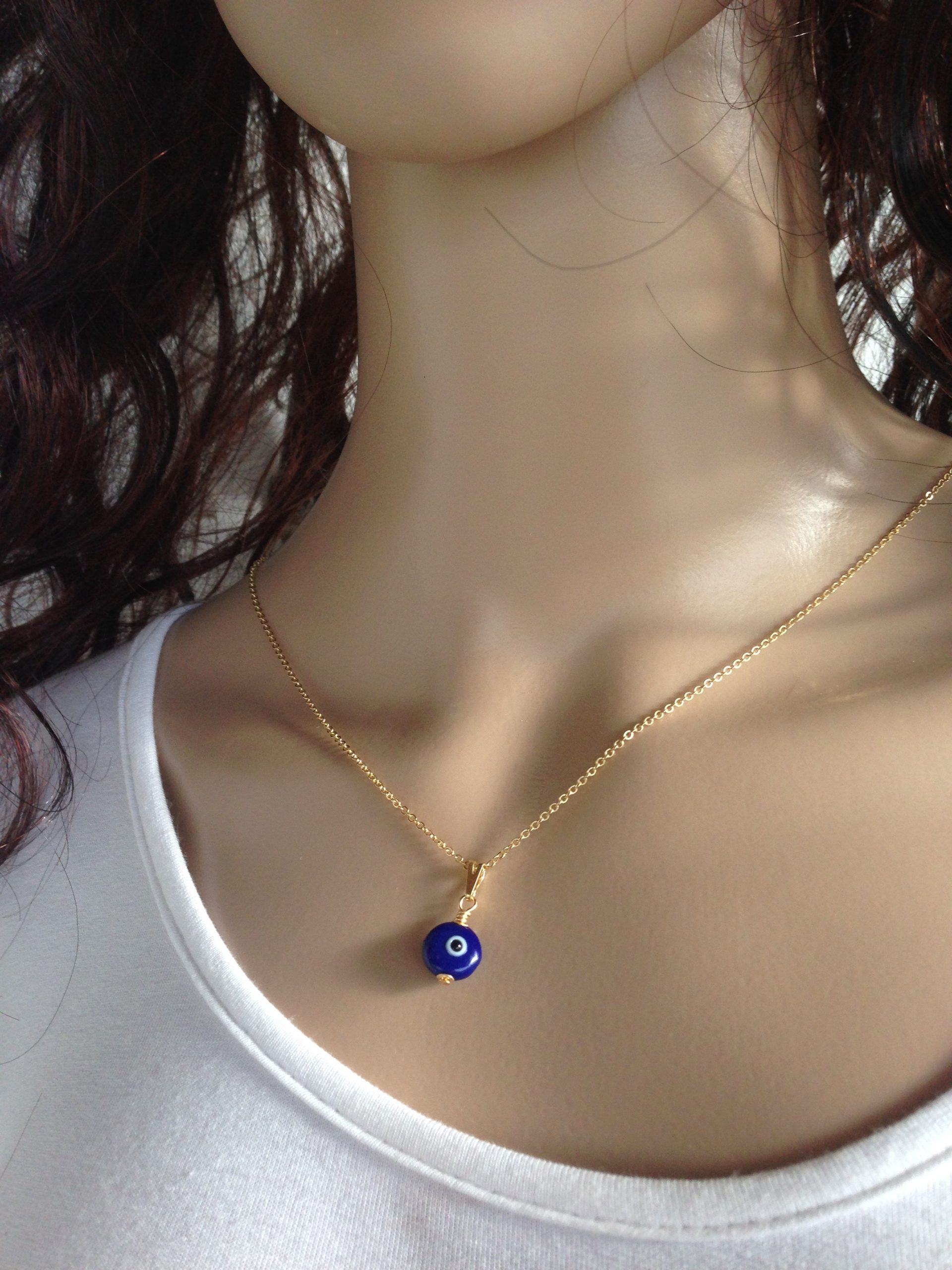 gold filled evil eye necklace