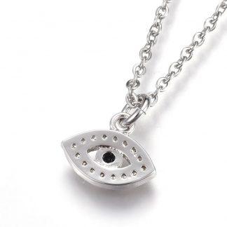 back evil eye pendant