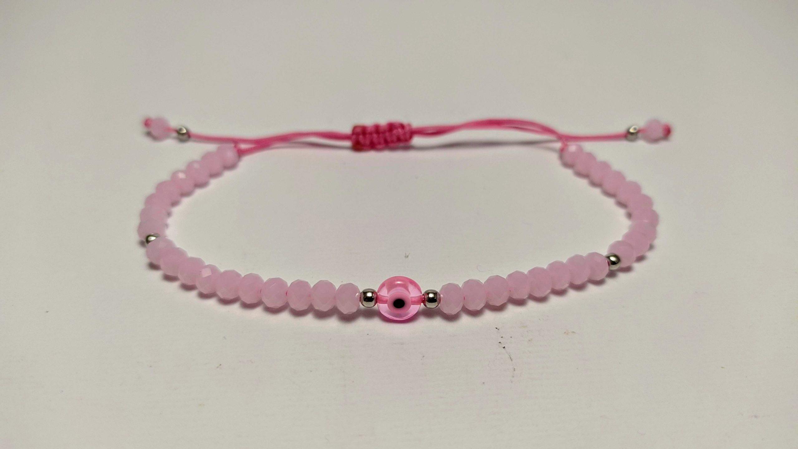 pink evil eye bracelet