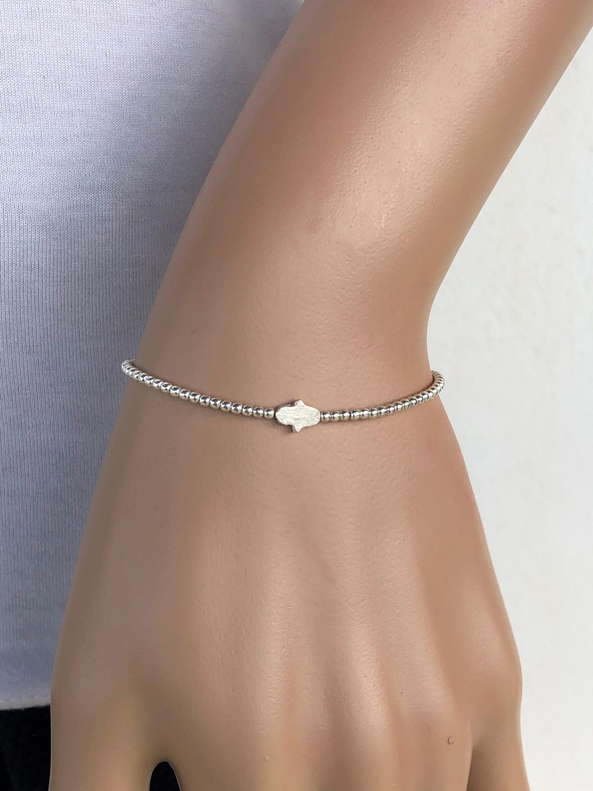 silver hamsa bracelet