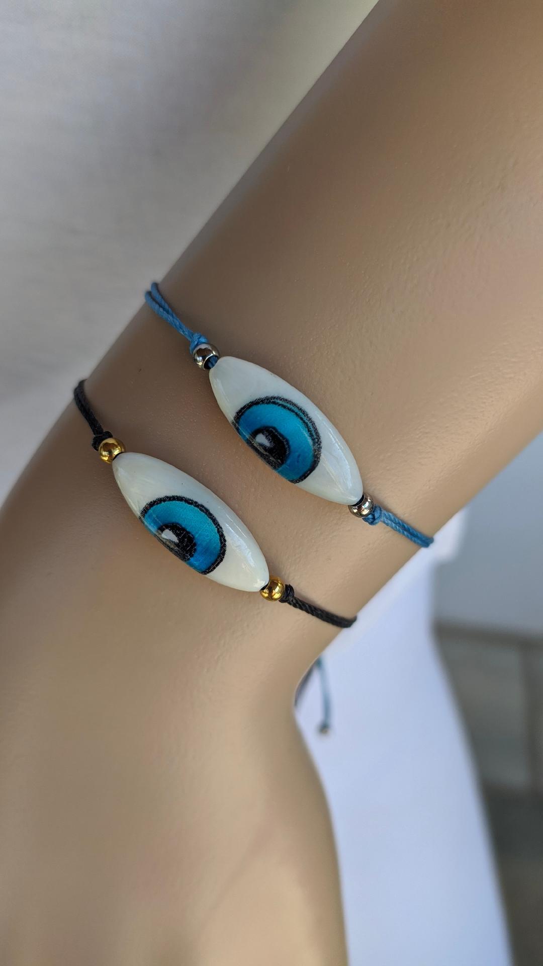 mop evil eye bracelet