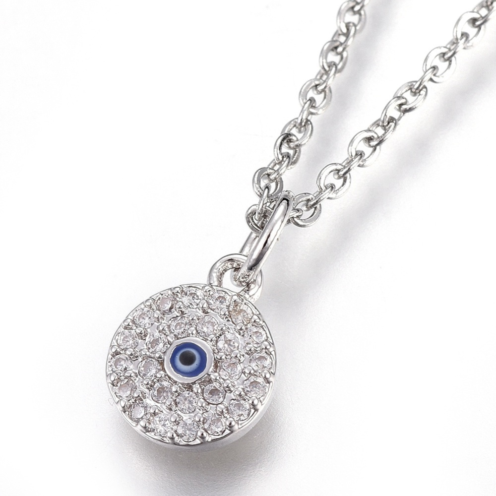 cz evil eye necklace