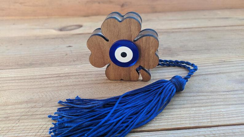 evil eye clover house ornament