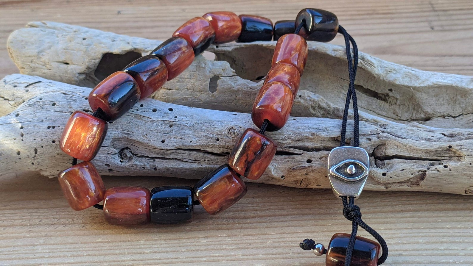 Red worry beads