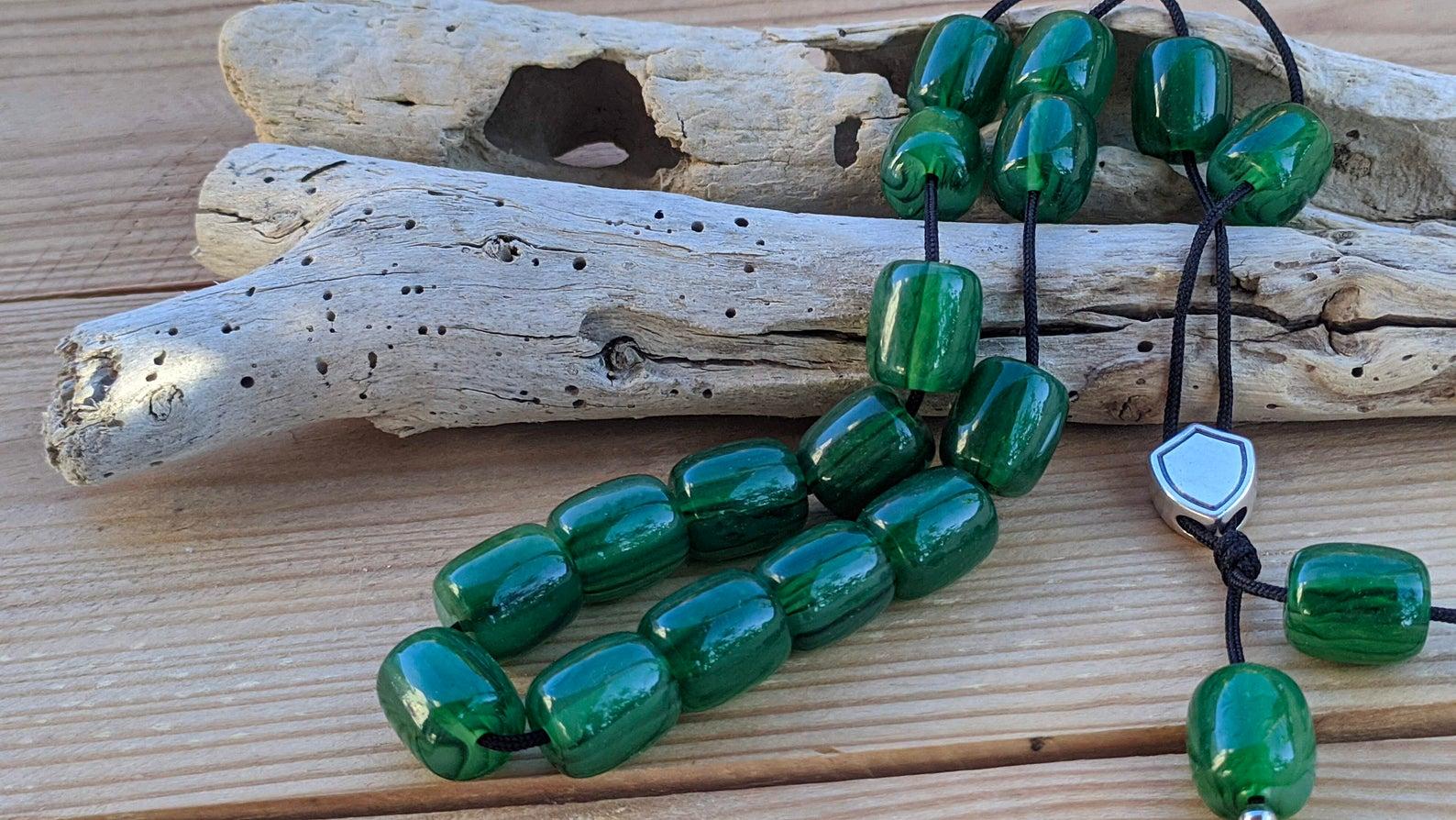 Green worry beads