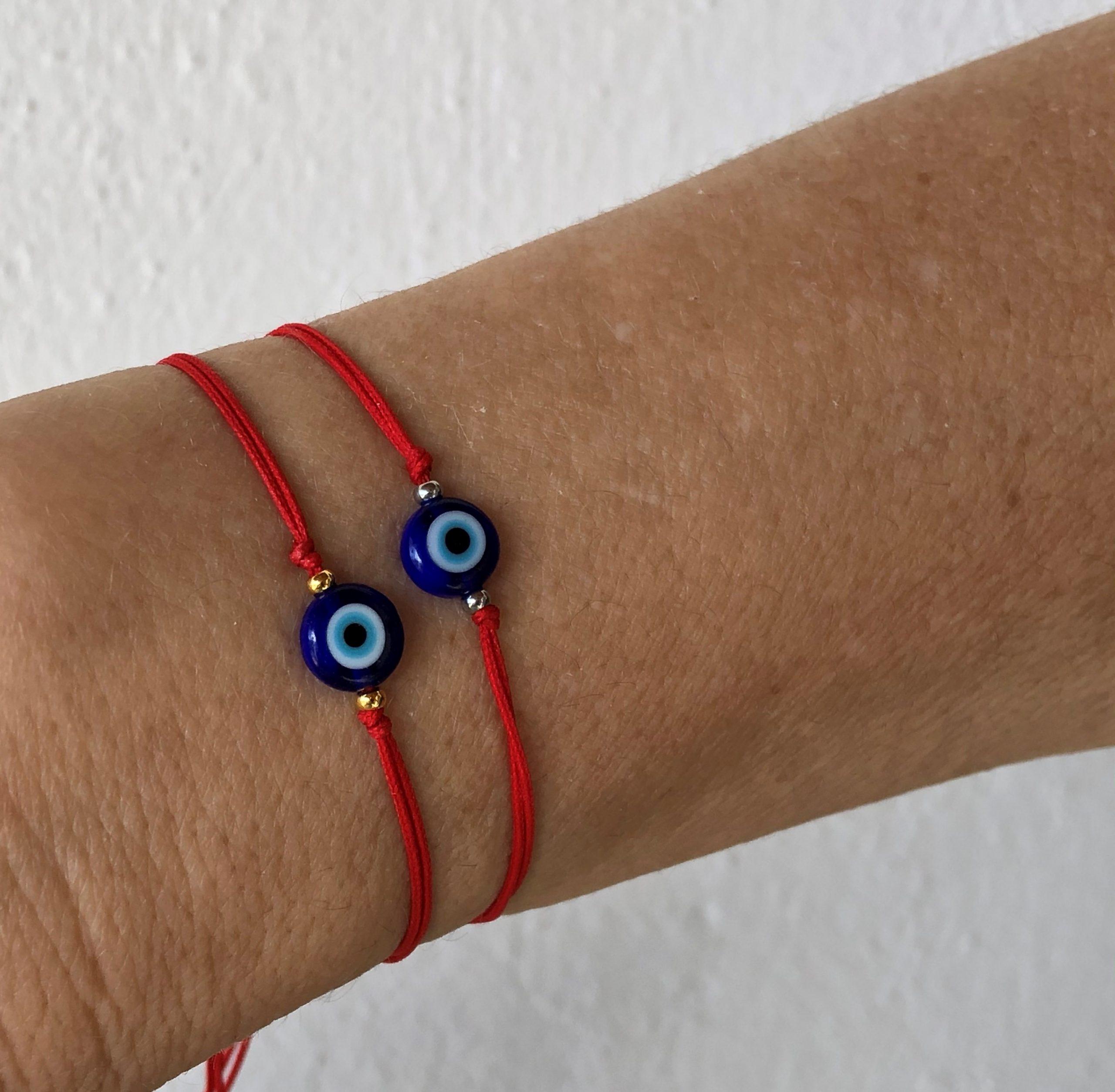 red string evil eye bracelet