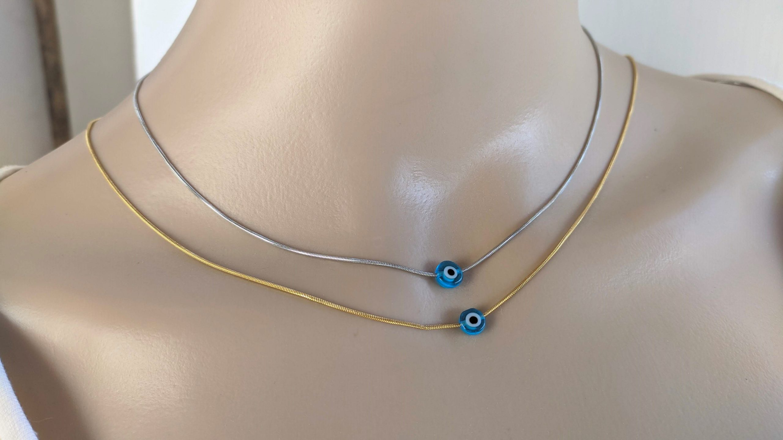 stainless evil eye necklace